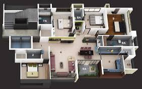 Home Plan 3d by 1 Story Home Floor Plans 3d Magiel Info