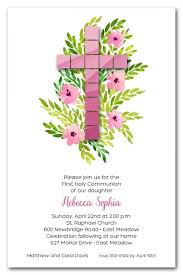 holy communion invitations tile cross holy communion invitations