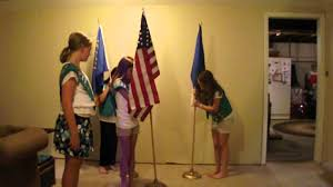 Flag Placement Scout Flag Ceremony Youtube