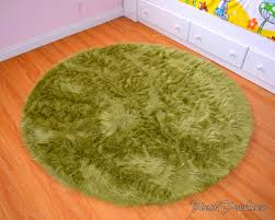 Modern Round Rugs by Olive Green Faux Fur Round Rug Area Rug Throw Rugs Modern Home