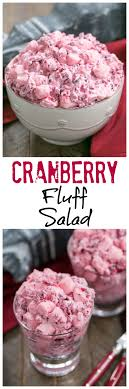 cranberry fluff salad that can bake
