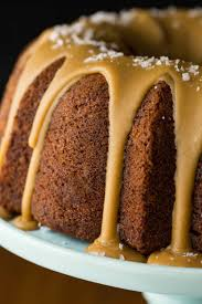 banana pound cake with salted toffee icing the café sucre farine