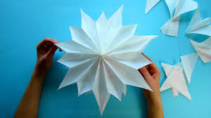 Make An Easy Paper Bag Star Christmas Crafts Simple 3d Paper
