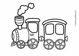 train clipart coloring template pencil color train