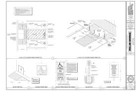 Floor Plan Standards Fastbid 3 Dollar General Modesto Ca Plans T01 Title Sheet
