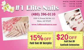 coupon nail salon mesa nail salon 85205 elite nails