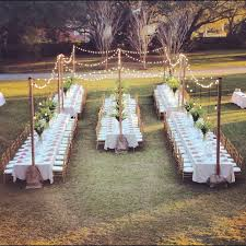 Outdoor Wedding Lights String by Tried It Tuesday Cute And Delicious Wedding Placeholder Diy