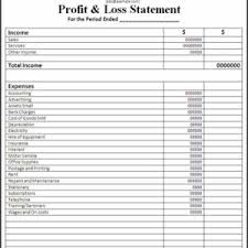 Profit And Loss Spreadsheet Template by Income Statement Profit And Loss Worksheet Template Sle