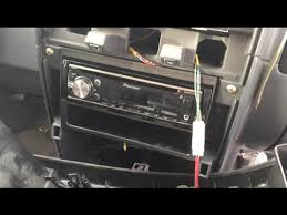 2000 2004 nissan frontier pioneer deh x6700bt stereo install