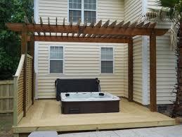 pergola with trellis brabham fence columbia sc decks