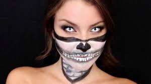 half skull mask halloween skull bandana halloween makeup tutorial youtube
