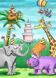 Jungle Birthday Card Birthday Cards Ideas Birthday Card Cartoon Pictures