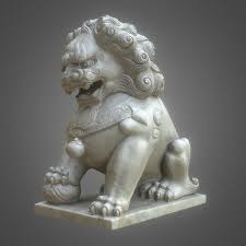 lion dog statue 8k guardian lions foo model