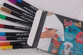 amazon com permanent fabric markers u2013 10 fine tip pens water