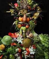 fruits flowers portraits made of fruits flowers and vegetables
