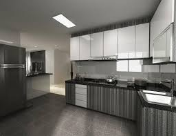 100 kitchen cabinets grey color with peninsula black