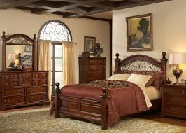 rustic brown cherry finish traditional poster bed w options