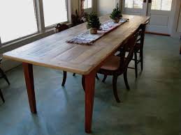 dining room brown stained wooden long thin 2017 dining table