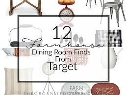 Target Dining Room 12 Farmhouse Dining Room Finds From Target The Organized Dream