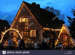 dpa a view of a house illuminated with christmas decorations in