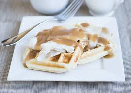 biscuit waffles with turkey and gravy thanksgiving