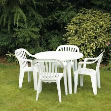 Patio Plastic Chairs by White Plastic Patio Furniture For White Plastic Patio Table And