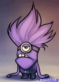 how to draw an evil minion despicable me 2 step by step