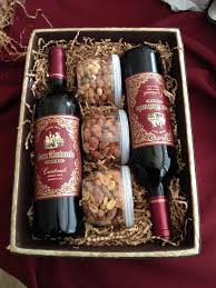 sending wine as a gift wine gift basket nuts are a idea to add to the wine basket