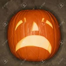 frowning halloween jack o u0027 lantern stock photo picture and