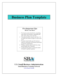 small business plan template
