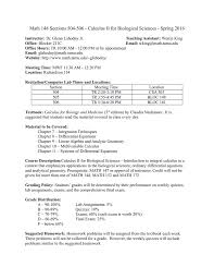 math 148 sections 504 506 calculus ii for biological sciences