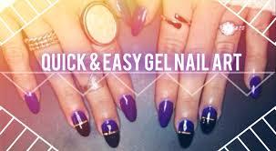 quick u0026 easy gel nail art youtube