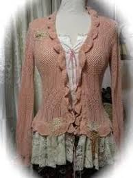 shabby chic altered clothing bing images sweater redos