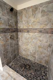 romina gray tile shower customer jobs pinterest grey tiles