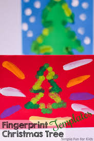 fingerprint christmas tree templates simple fun for kids