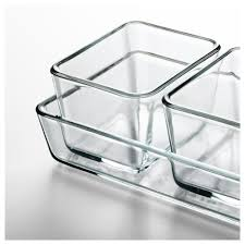 mixtur oven serving dish set of 4 clear glass ikea