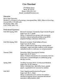 Format and Style Chronological CV