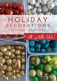 decorations storage solutions with free printable labels