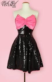 80s prom dresses for sale 1980 s black sequins pink bow party dress 80 s vintage clothing