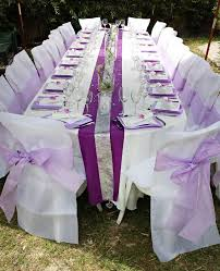 decoration de mariage et blanc décoration de mariage de valérie et pascal blanc et violet