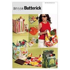 couture accessoire cuisine butterick patterns b5834 patron pour sacs taille unique blanc