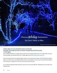 garvan gardens christmas lights 2016 naturally nov dec 2017 by p allen smith s naturally issuu