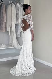 wedding dresses with sleeves keyhole back wedding dress in corded lace illusion