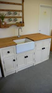 belfast sink unit with freestanding appliance cupboard the olive
