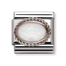 opal october nomination silver u0026 opal october birthstone classic charm 030509