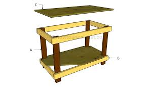 Build A End Table by How To Build A Work Table Howtospecialist How To Build Step