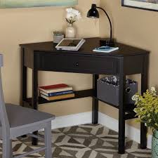 Small Space Computer Desk by Corner Desk For Small Space Home Office Computer Black Wood