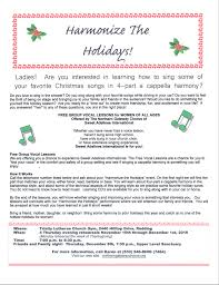 when is thanksgiving week harmonize the holidays free group vocal lessons northern gateway