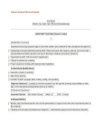 Teaching Assistant Resume Sample by Teacher Resume Examples 23 Free Word Pdf Documents Download