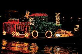 christmas light parade floats designing a holiday lights display for your boat boatus magazine